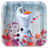 "©Disney Frozen 2 7"" Metallic Square Plate - USA Party Store"