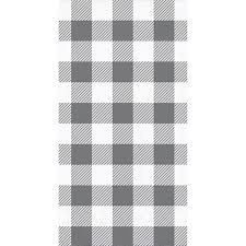 Gray and White Check Guest Napkin