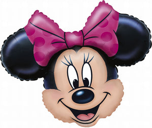 "28"" Minnie Mouse Head - USA Party Store"