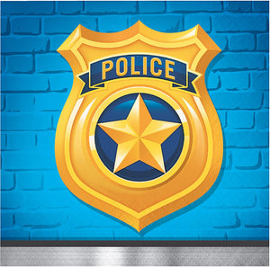 Police Party Beverage Napkin - USA Party Store