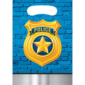 Police Party Loot Bags 8ct - USA Party Store