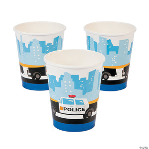 Police Party Cups 8ct - USA Party Store