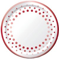 40th Sparkle Ruby Plate 9""