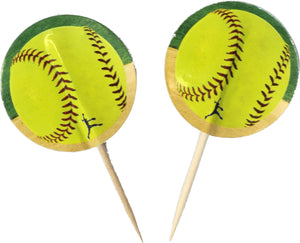 SoftBall Party Picks - USA Party Store
