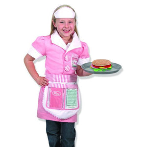 Waitress Role Play Costume Set 3-6yrs - USA Party Store