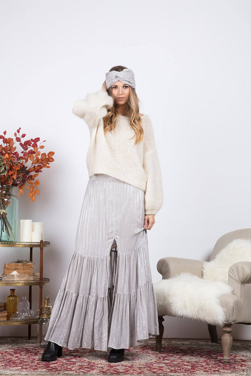 JADE SKIRT MIX GREY
