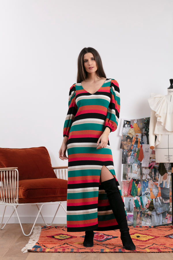 ANGELE STRIPES MIX BLACK