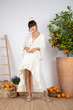 JULIANA DRESS SAINT BARTH COCONUT