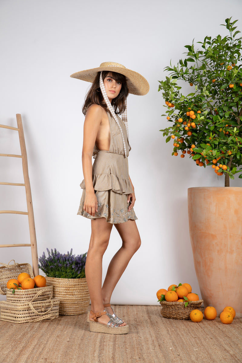 LUNE POSITANO DARK BEIGE / SUN EMBROIDERIES