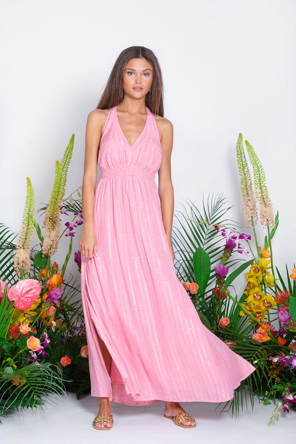 HAILEY LONG DRESS ROMA LIPSTICK