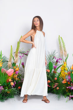 ZAHARA LONG DRESS SAINT BARTH COCONUT