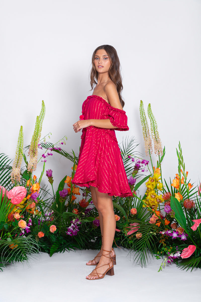 NOA SHORT DRESS ROMA FUCHSIA