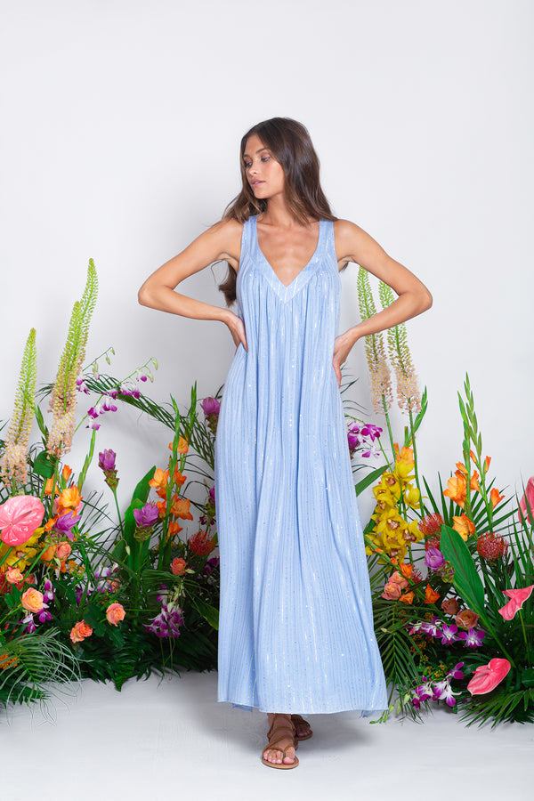 XIMENIA LONG DRESS ROMA THERAPY BLUE