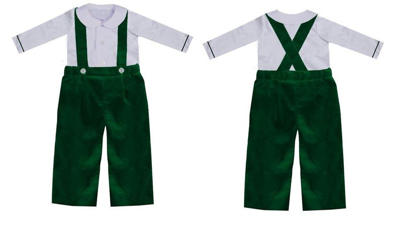 2020 Green Christmas Velvet Suspender Set