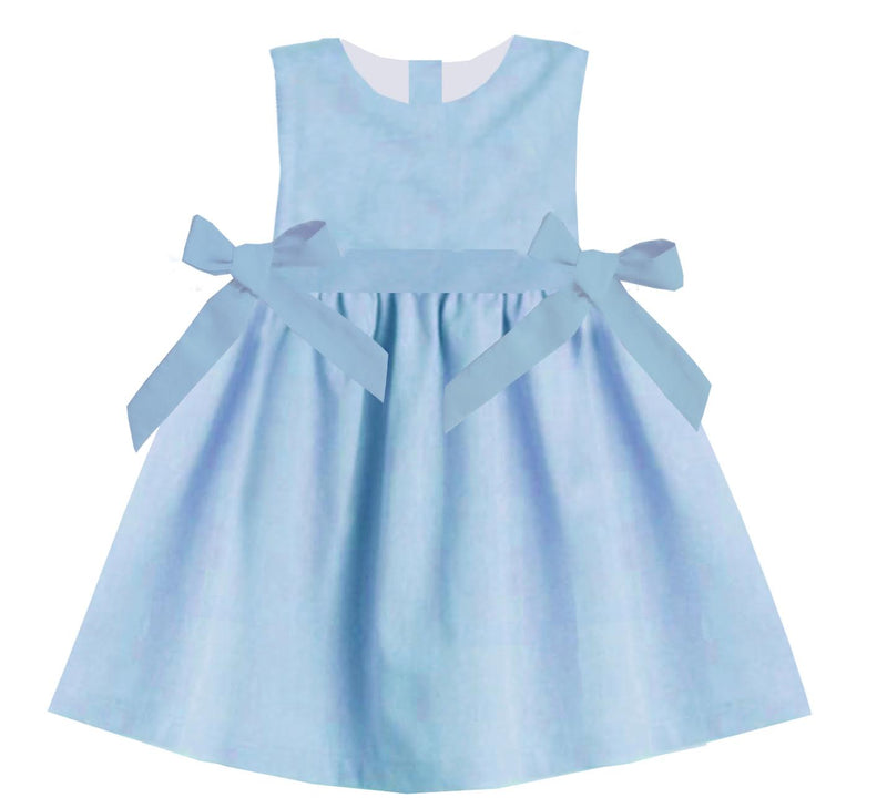 2020 Spring Blue Dress with Bows
