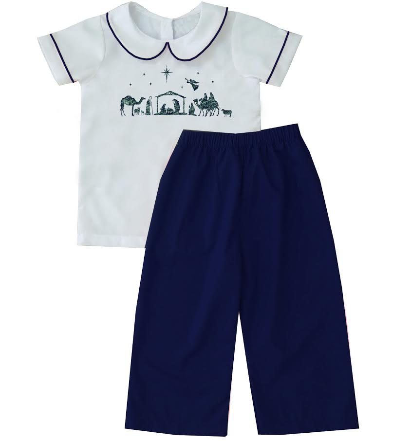 2020 Christmas Nativity Boy Pant Set