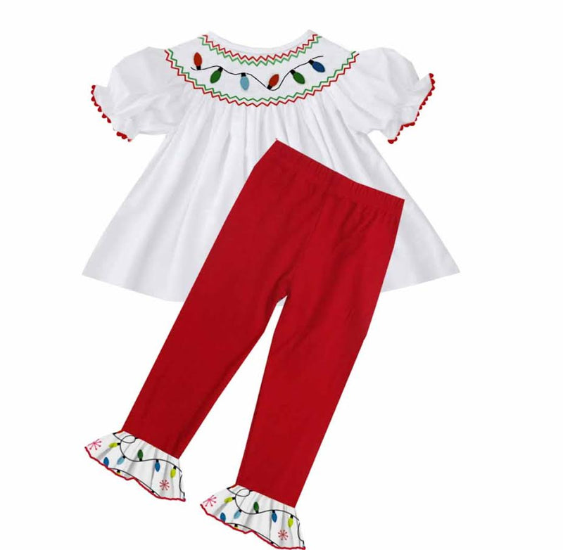 2020 Christmas Lights Pant Set