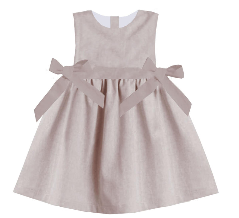 2020 Spring Tan Dress with Bows