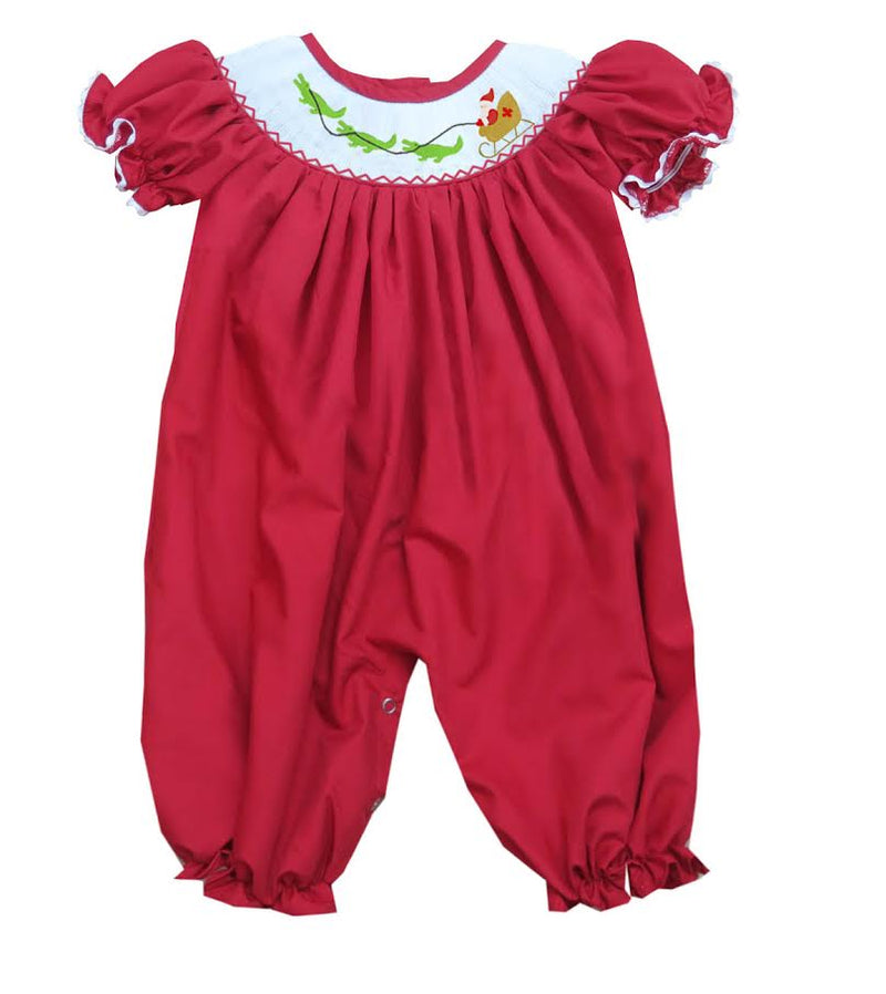 2020 Cajun Christmas Girl Romper