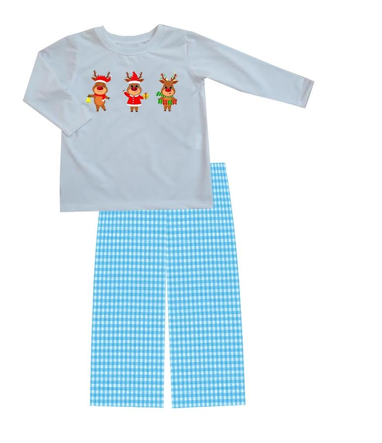 2020 Christmas Reindeer Boy Pant Set