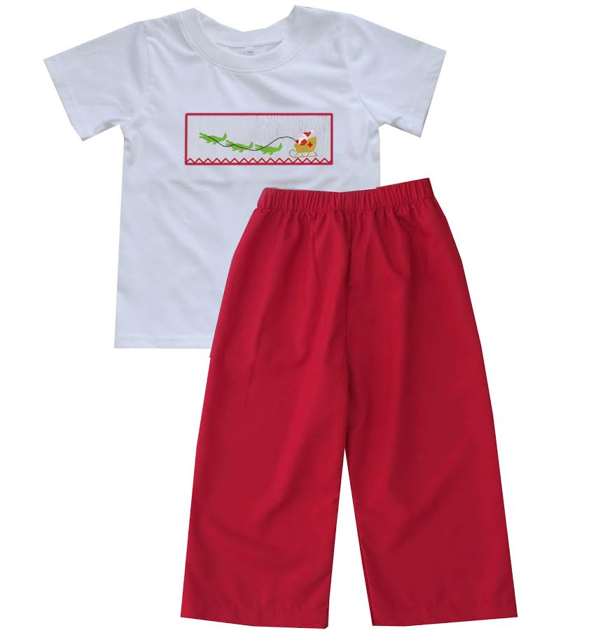 2020 Cajun Christmas Boy Pant Set