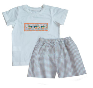 Gingham Fish Tshirt Short Set