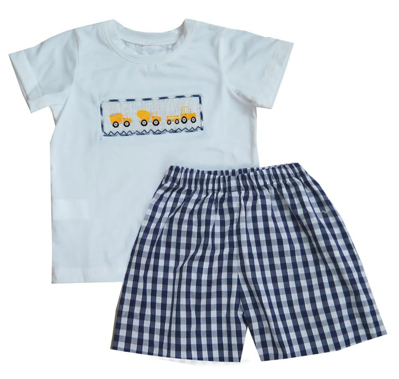 Construction Truck T-shirt Short Set