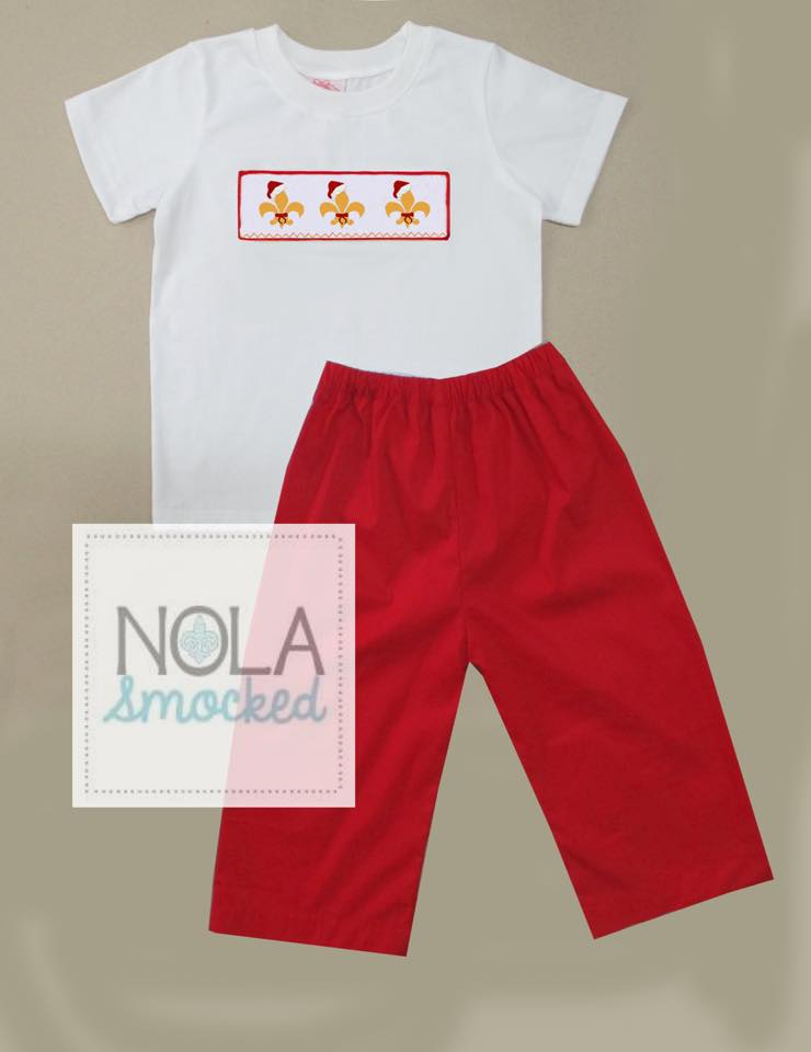 FDL Santa Hat Boys Pants Set