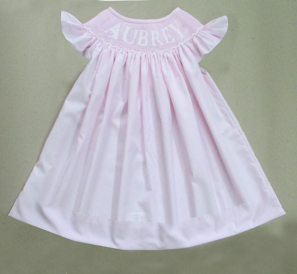 Personalized Pink Bishop Dress