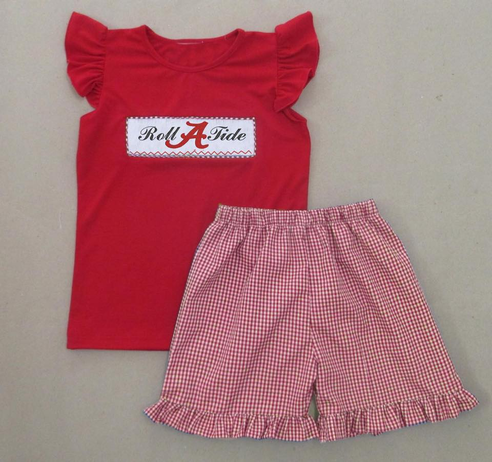 A Roll Tide Girls Short Set