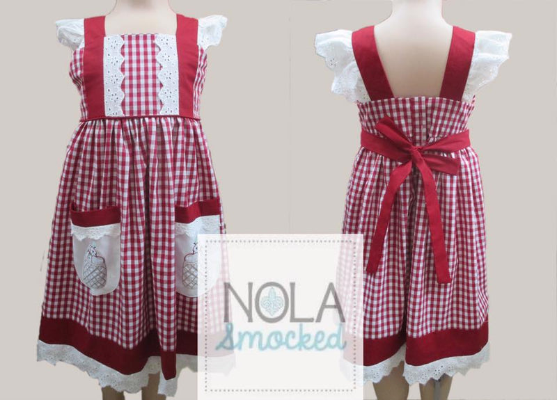 Basket of Apples Pinafore Dress