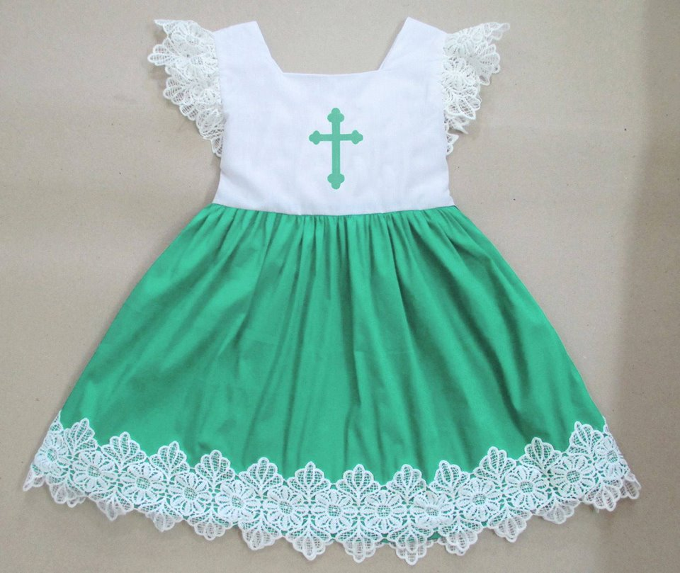 Mint Lace Cross Dress