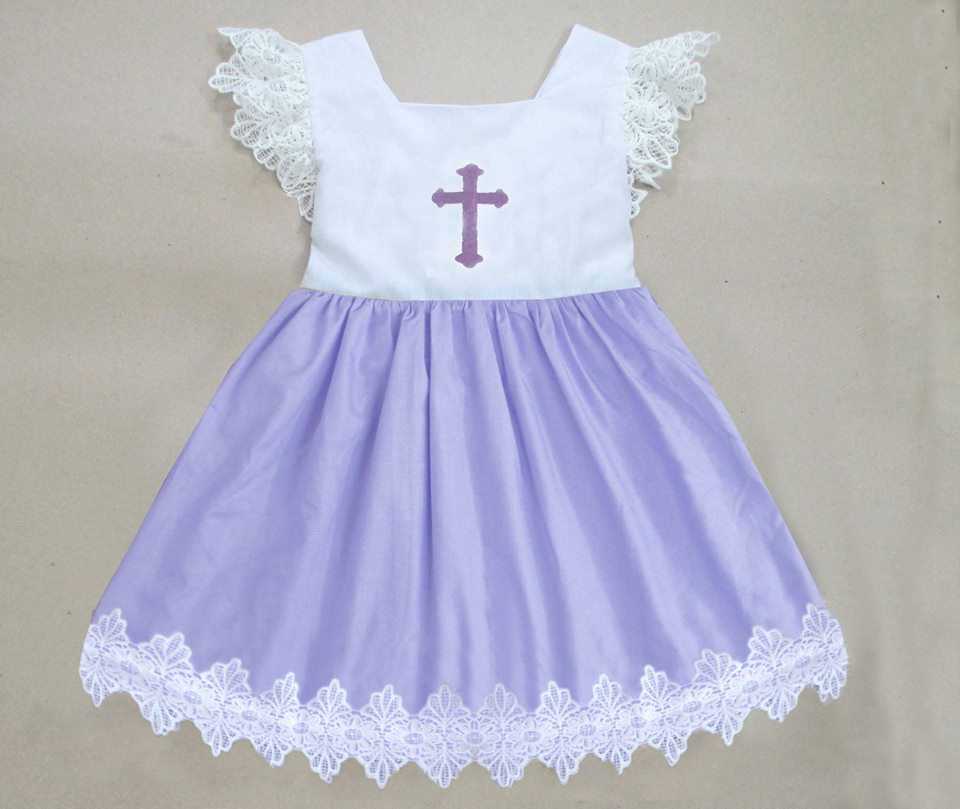 Lavender Lace Cross Dress