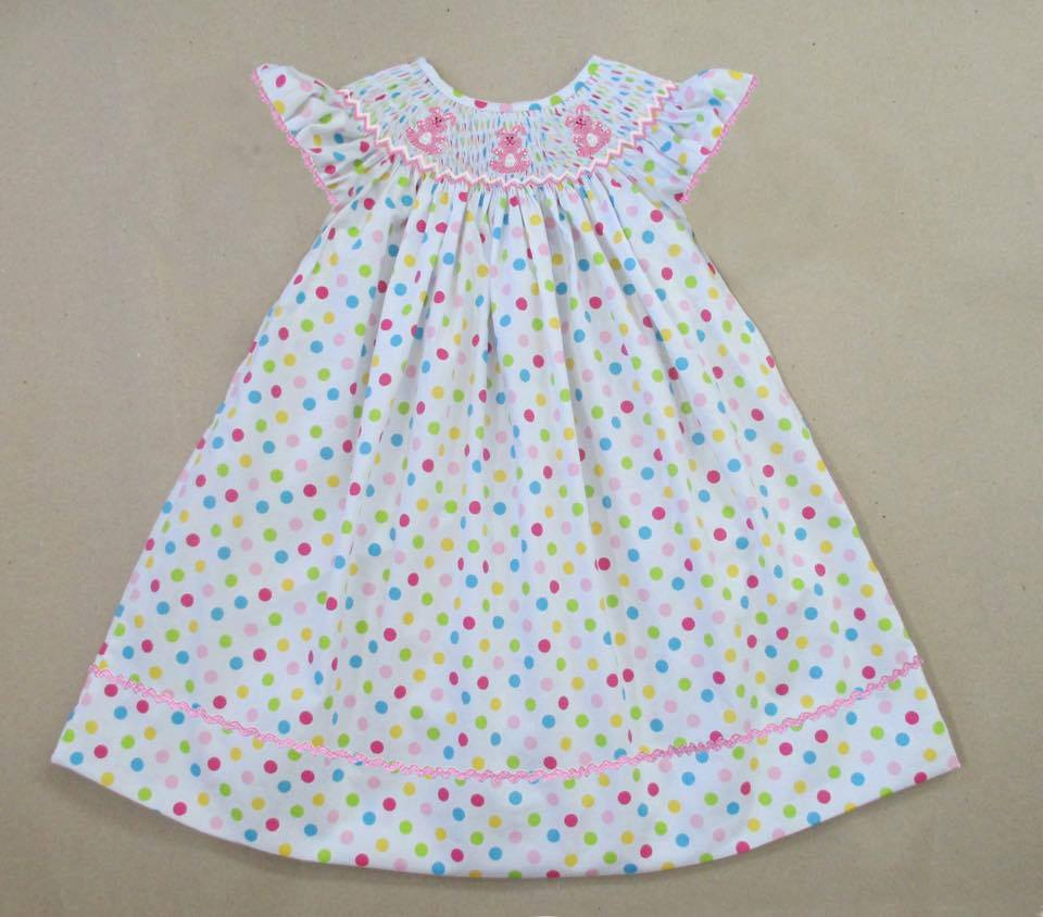 Multi Dot Bunny Bishop Dress