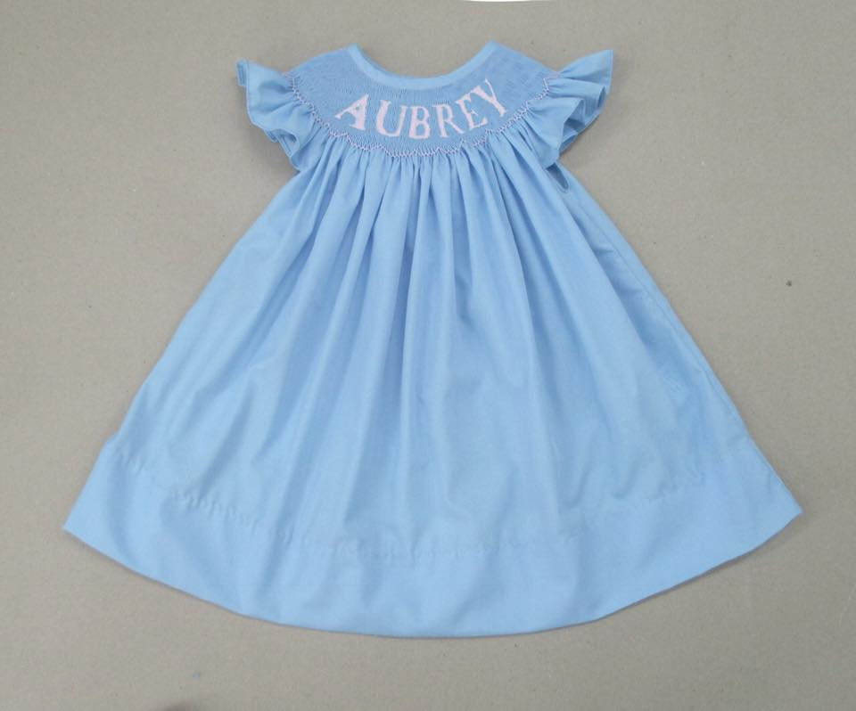 Personalized Blue Bishop Dress