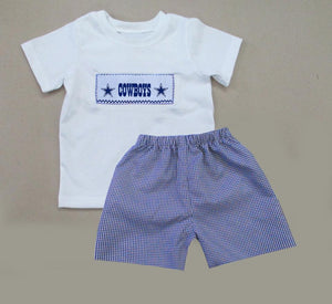 Dallas Cowboys Boys Short Set