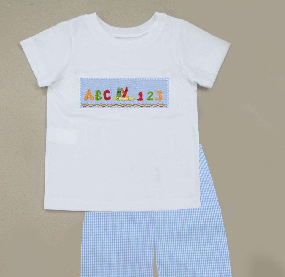 ABC/123 Back to School Boys Short Set