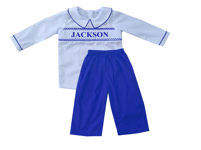 Personalized Royal Boys Pants Set