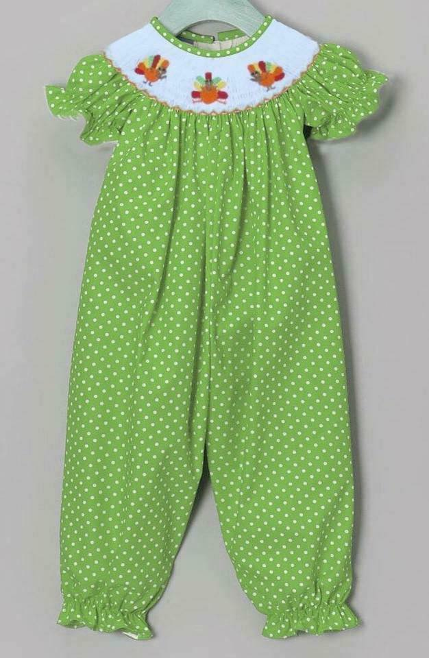Lime Dot Turkey Romper