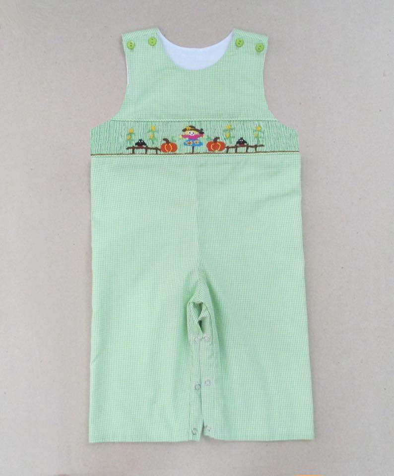 Green Gingham Scarecrow Longall