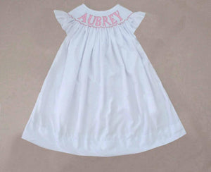 Personalized White Bishop Dress