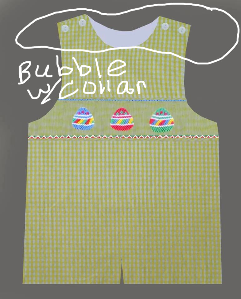 Yellow Gingham Easter Egg BOY Bubble