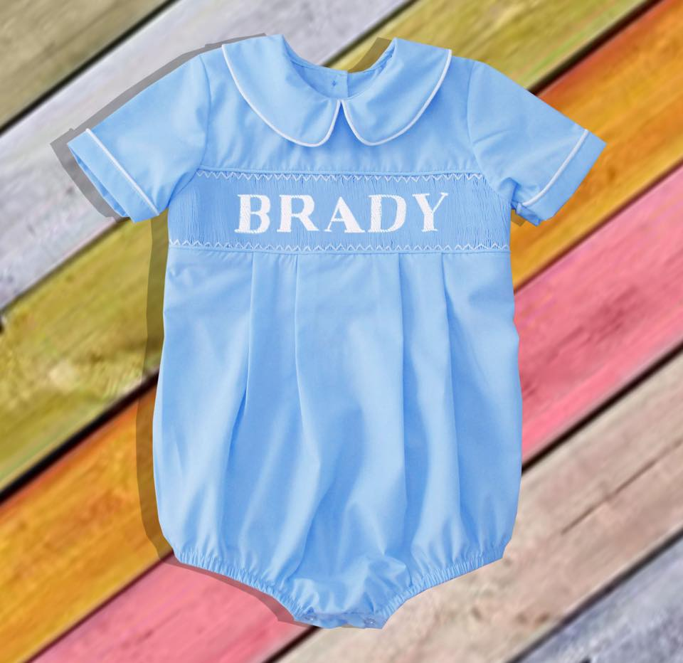 Personalized Blue Boy Bubble