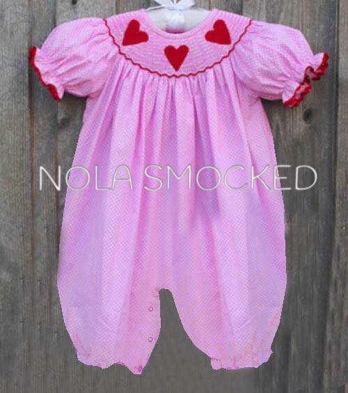Red Heart Pink Dot Romper