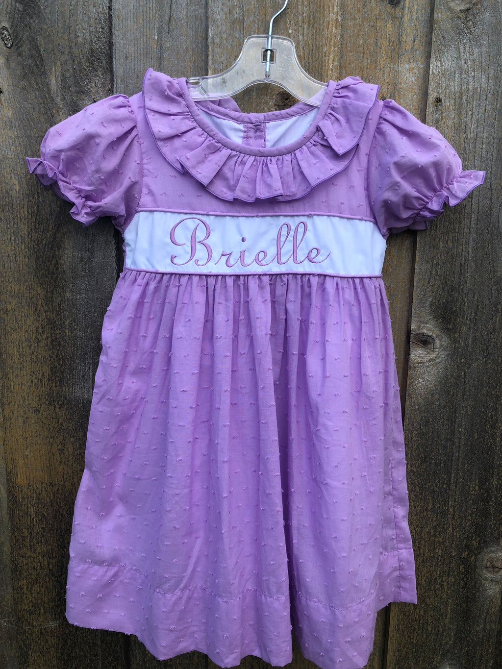 Lavender Swiss Dot Dress