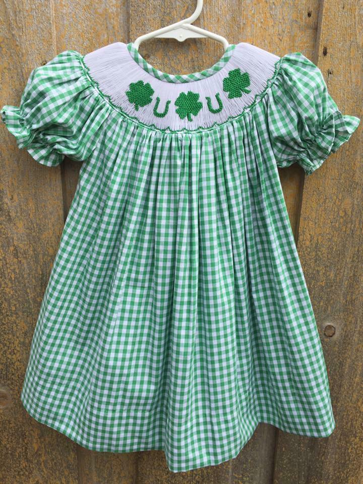 Green Gingham St. Patrick's Day Bishop