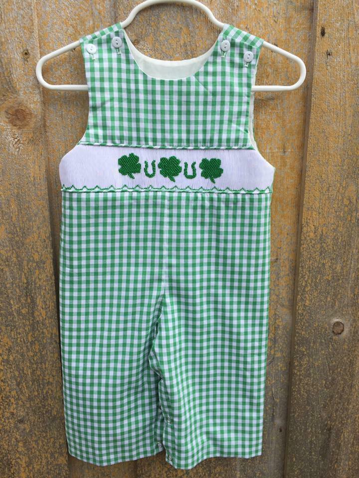 Green Gingham St. Patrick's Day Longall