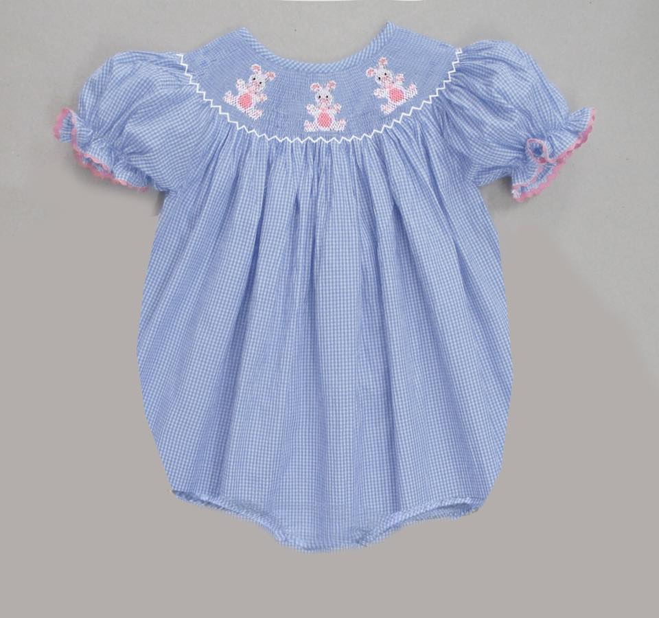 Light Blue Bunny Gingham Bunny Bubble