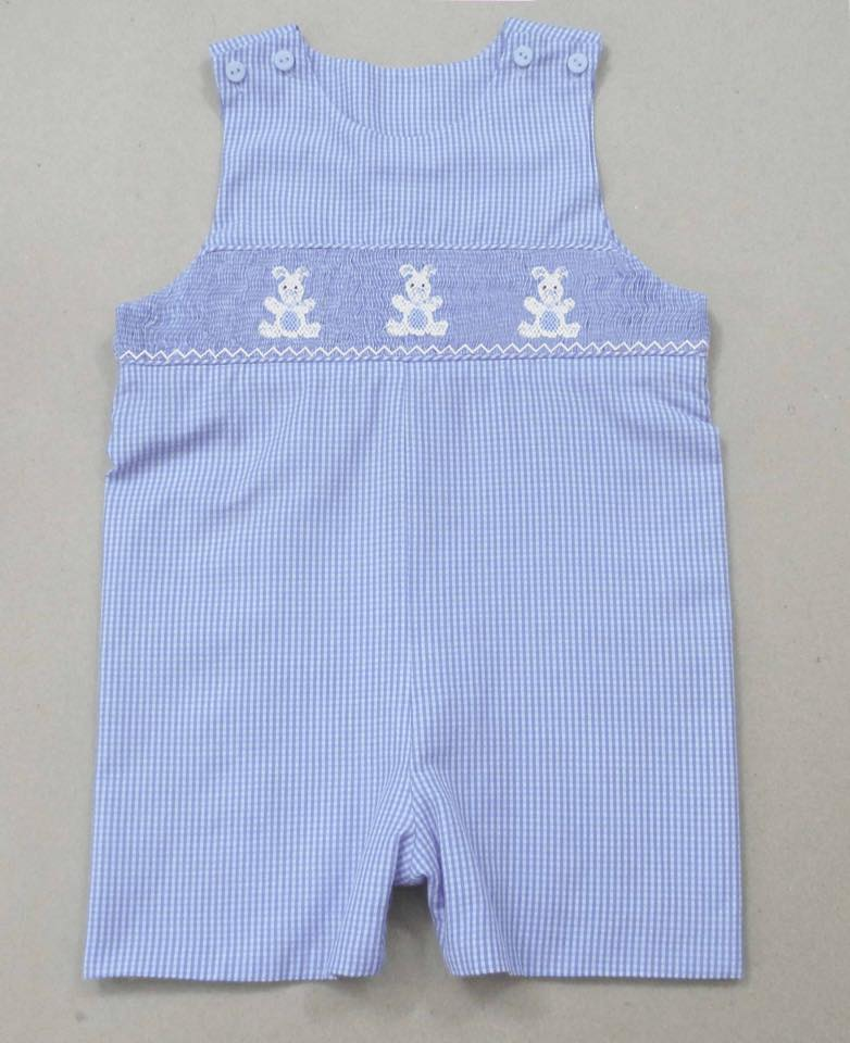 Light Blue Gingham Bunny JonJon