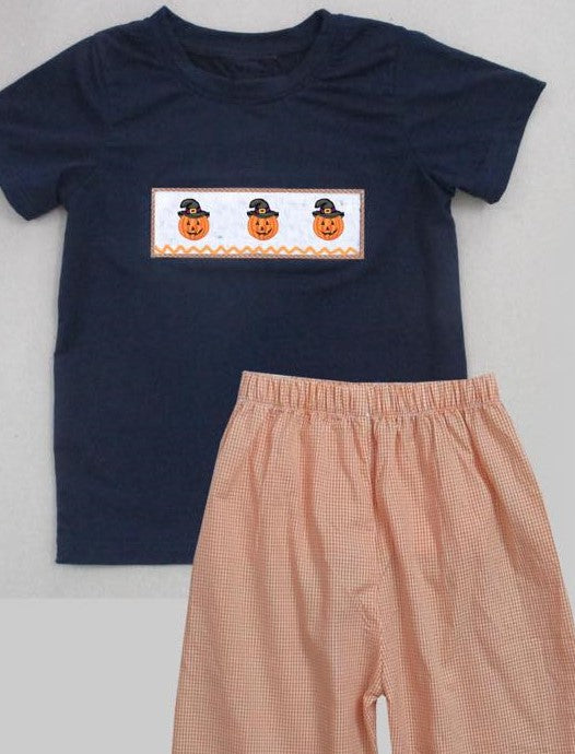 Pumpkin Witch Short Set